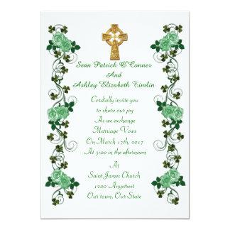 Irish Wedding invitation Celtic cross
