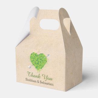 Irish Wedding Shamrock Heart Favour Box