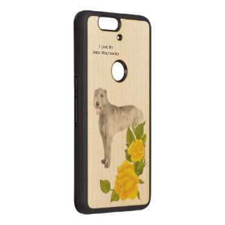 Irish Wolfhound and Yellow Roses Wood Nexus 6P Case