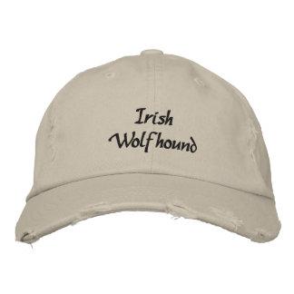 Irish Wolfhound Dog Embroidered Baseball Cap