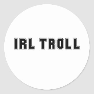 IRL Troll Classic Round Sticker