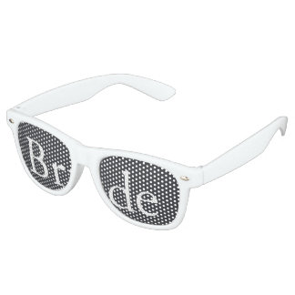 Iron Grille Grey with White Borders and Text Retro Sunglasses