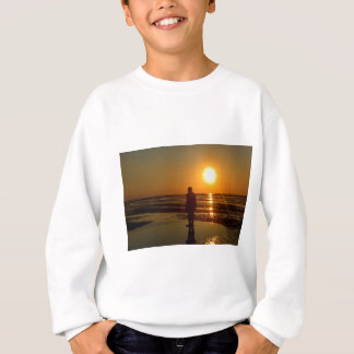 Iron Men Sculpture at Sunset, Crosby, Liverpool UK Sweatshirt