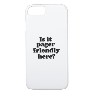 Is it pager friendly here iPhone 7 case