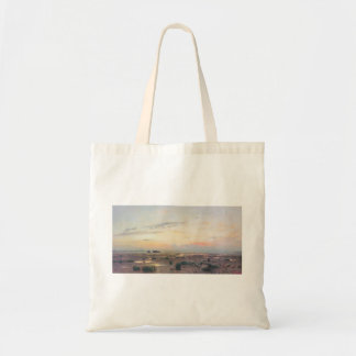 Isaac Levitan- Marsh at evening Canvas Bag