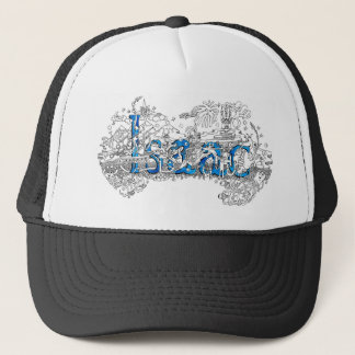Isaac name art design by Dick Skilton Trucker Hat