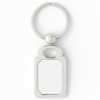 Silver-Colored RECTANGLE KEY RING