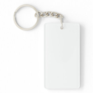 Single-Sided RECTANGULAR ACRYLIC KEY RING