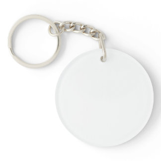 Single-Sided ROUND ACRYLIC KEY RING