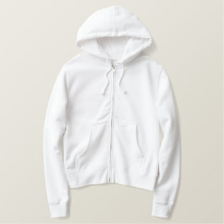 EMBROIDERED LADIES ZIPPED HOODIE