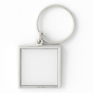 Silver-Colored SQUARE KEY RING