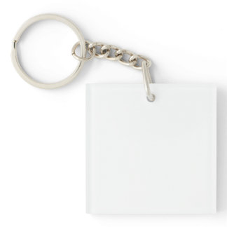 Single-Sided SQUARE ACRYLIC KEY RING