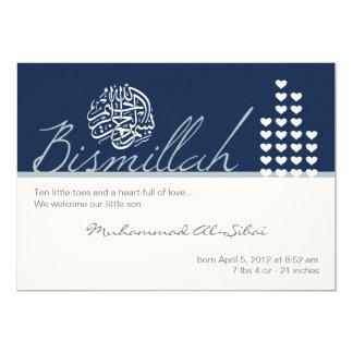 Islam aqiqah aqeeqah invitation boy bismillah