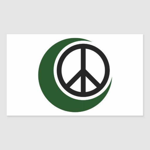 Islamic Muslim Symbol with Peace Sign Stickers