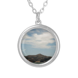 Island Across The Bay Round Pendant Necklace