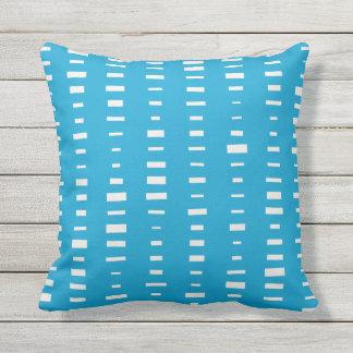Island Blue Outdoor Pillows - Block Stripe