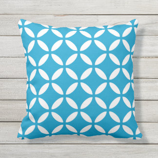 Island Blue Outdoor Pillows - Tuva Pattern
