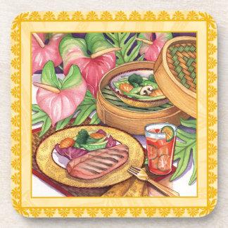 Island Cafe Bamboo Steamer Coaster
