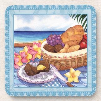 Island Cafe Bread Basket Coaster