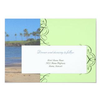 Island Destination Wedding Reception Card