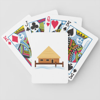 Island Hut Bicycle Playing Cards