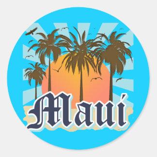 Island of Maui Hawaii Souvenir Classic Round Sticker