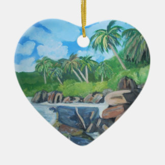 Island of Seychelles Ornament