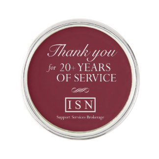 ISN Support Services Brokerage 20 Year Lapel Pin