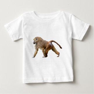 Isolated baboon walking baby T-Shirt