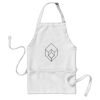 Isometric object- architectural-axonometric view standard apron