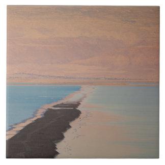 Israel, Dead Sea, Ein Bokek, Dead Sea, dusk 2 Tile