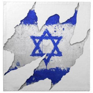 Israel flag graffiti rip napkin