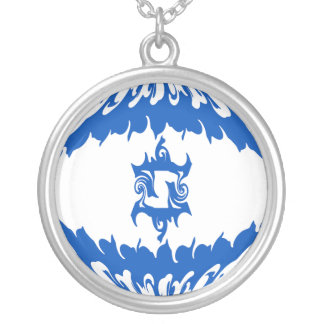 Israel Gnarly Flag Round Pendant Necklace