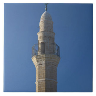 Israel, Tel Aviv, Jaffa, mosque minaret Tile