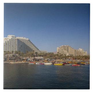 Israel, The Negev, Eilat, Red Sea beachfront Tile