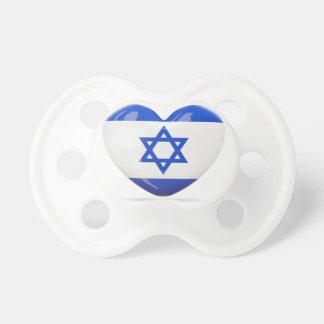 Israeli Flag Heart Baby Pacifier