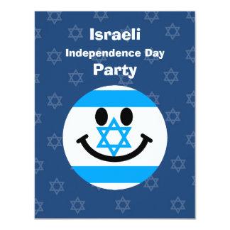 Israeli flag smiley face card