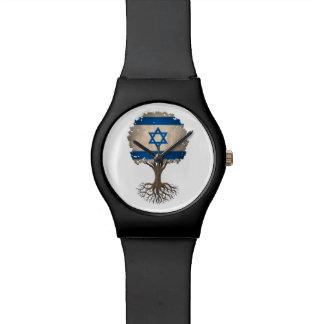 Israeli Flag Tree of Life Customizable Watch