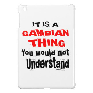 IT IS GAMBIAN THING DESIGNS iPad MINI COVER
