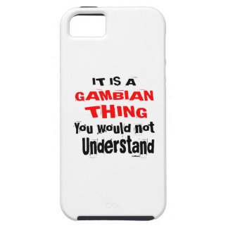 IT IS GAMBIAN THING DESIGNS iPhone 5 COVER