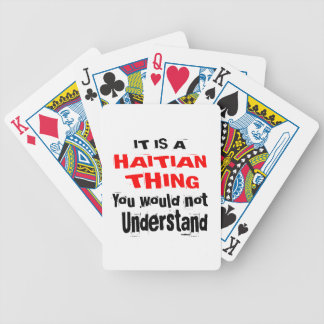IT IS HAITIAN THING DESIGNS BICYCLE PLAYING CARDS