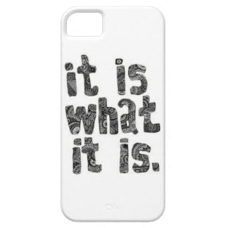 """It is what it is"" iphone 5s case"