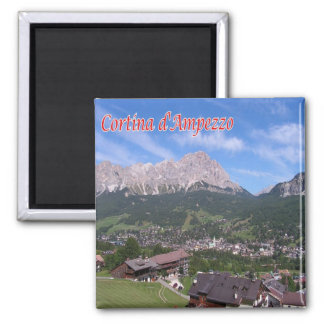 IT - Italy - Cortina D'Ampezzo Square Magnet