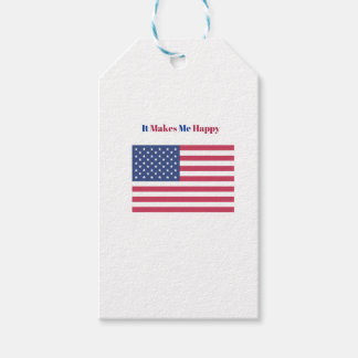 It Makes Me happy- American flag Gift Tags
