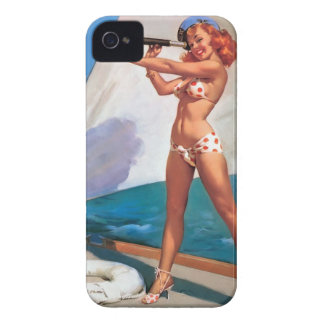It marries for Blackberry Bold Pin Up Vintage iPhone 4 Case