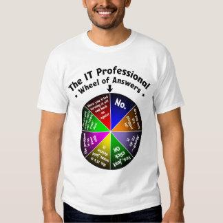IT Professional Wheel of Answers T Shirts
