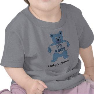 It s A Boy Blue Bear T Shirts