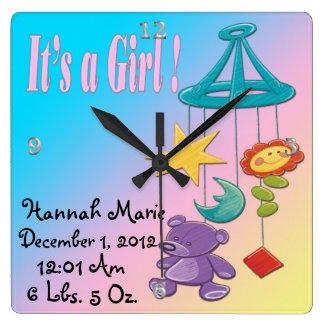 It s a Girl - Mobile Keepsake Wall Clock