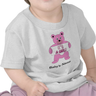 It s A Girl Pink Bear T-shirts