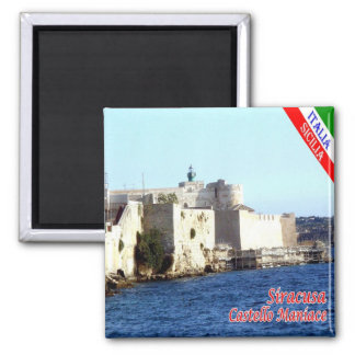 IT - Sicily - Siracusa - Castle Maniace Square Magnet